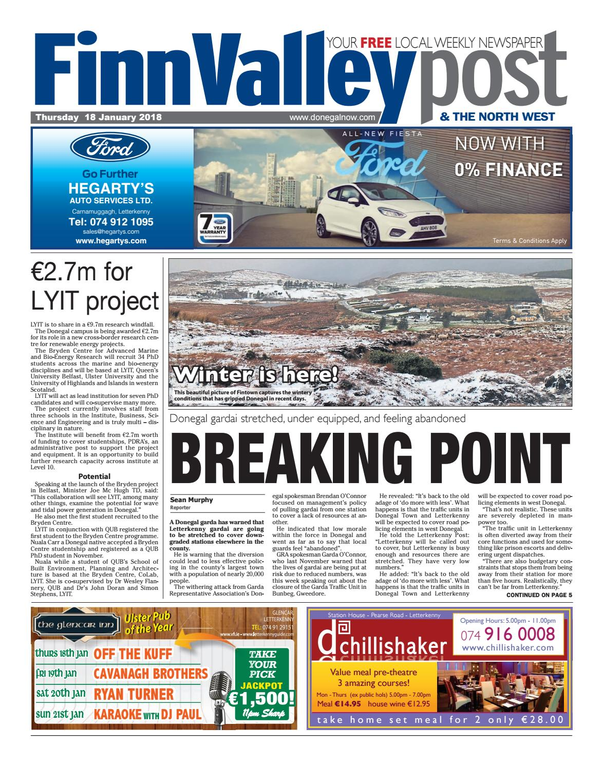Finn Valley Post 18 01 2018 By River Media Newspapers Issuu