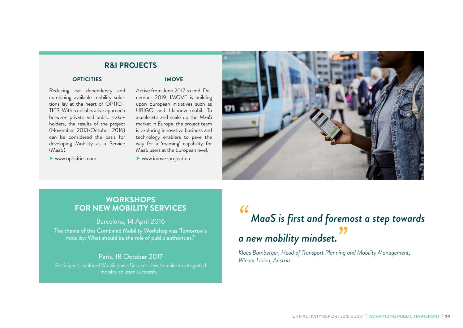 UITP Activity Report 2016 & 2017 by UITP - issuu