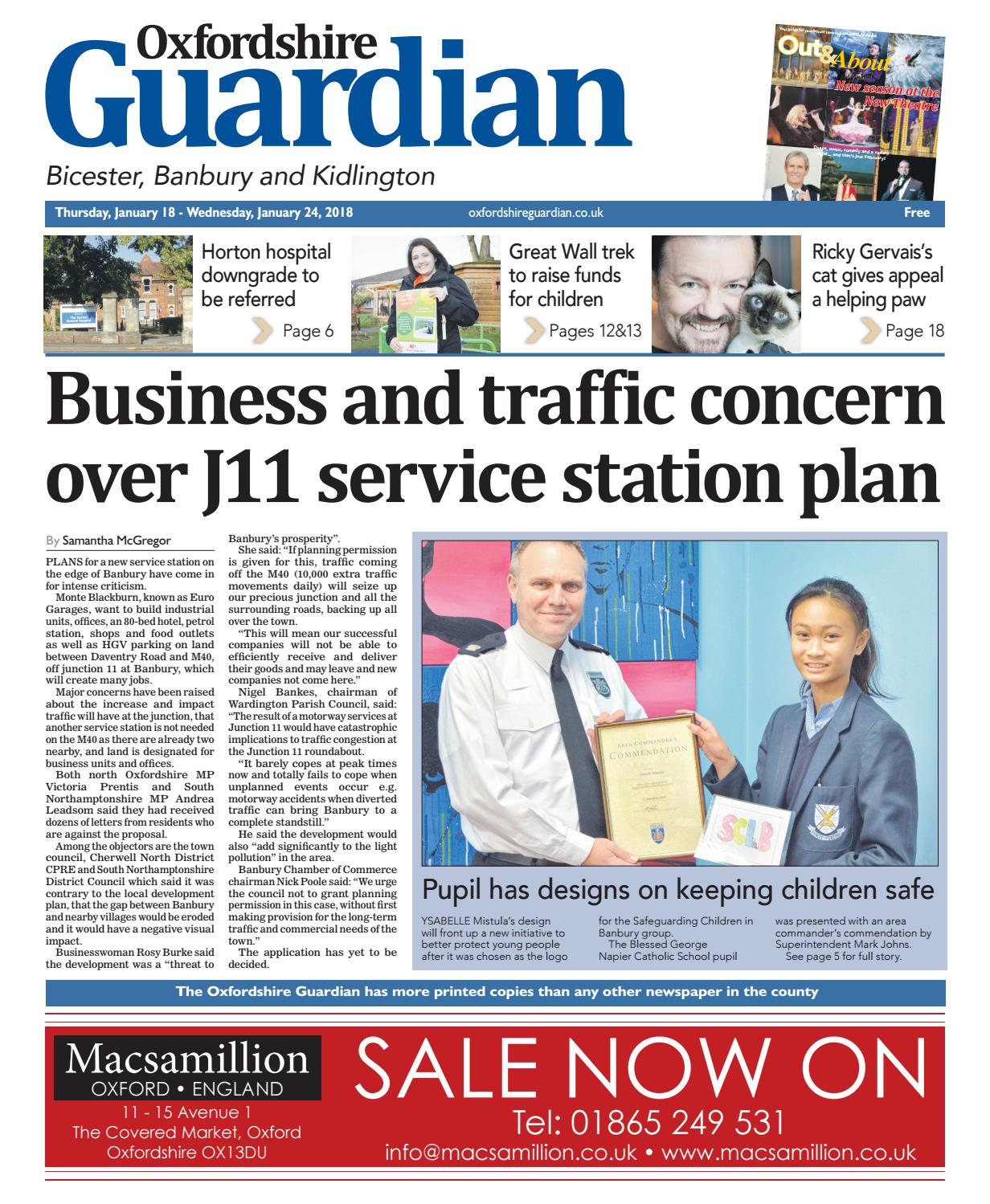 18 January 2018 Oxfordshire Guardian Bicester By Taylor Newspapers