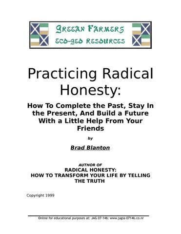 Practicing Radical Honesty by Zimmerman Stein - issuu