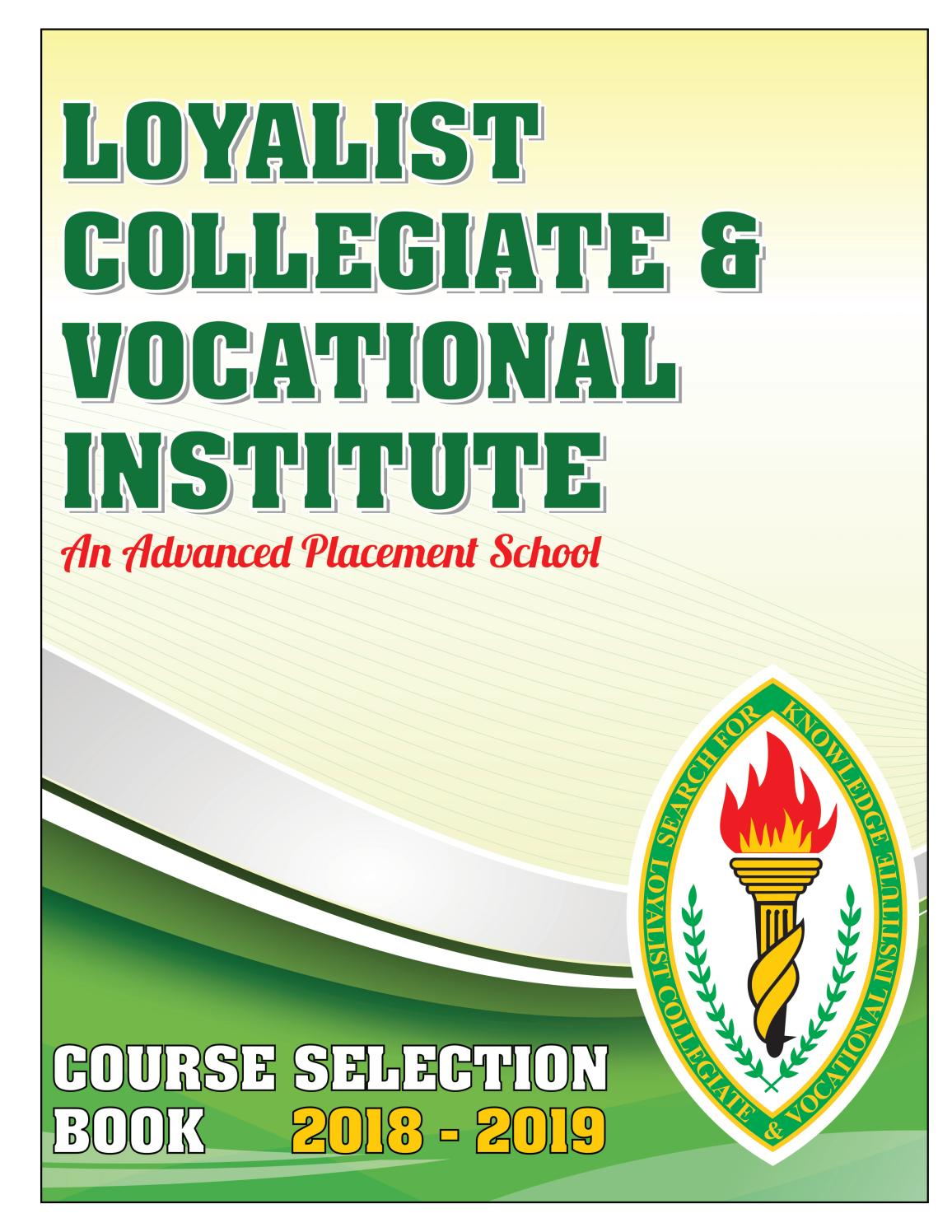 LCVI Advanced Placement Course Selection Book 2018-2019 by