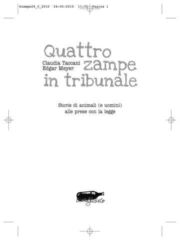 8c9f099af42d73 Quattro zampe in tribunale by Stefano Apuzzo - issuu