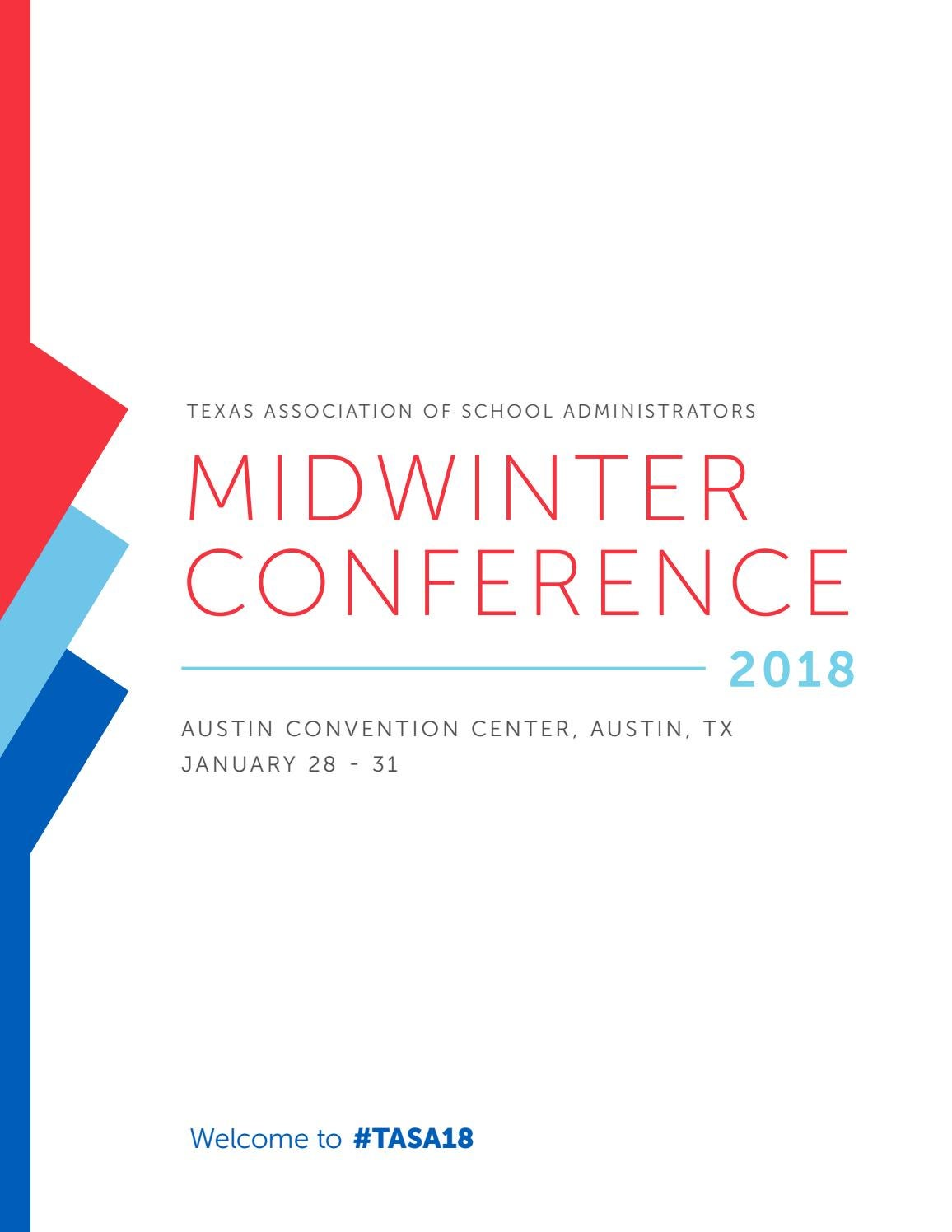 2018 Midwinter Conference Program by Texas Association of School  Administrators - issuu