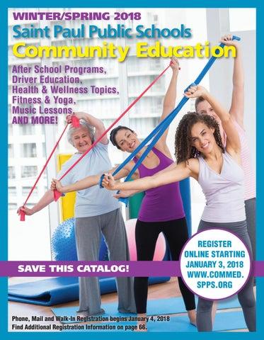 Spps Calendar.Winter Spring 2018 Saint Paul Community Education Catalog By Saint