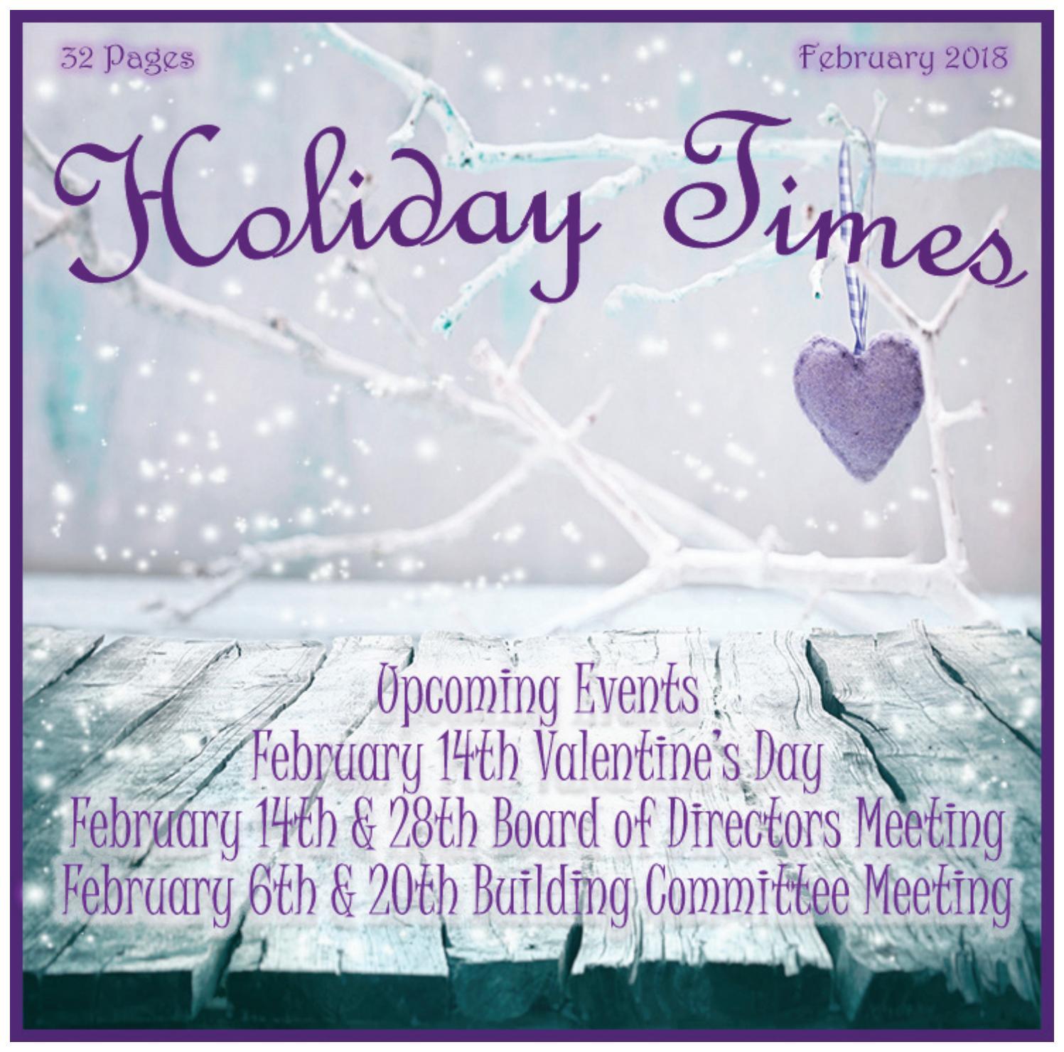 Holiday Times - February 2018 by EDWARDSVILLE PUBLISHING - issuu
