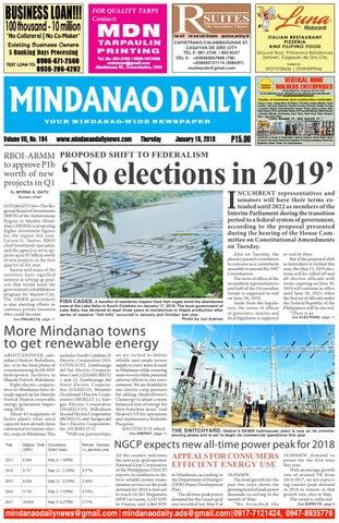 Mindanao Daily (January 18, 2018)