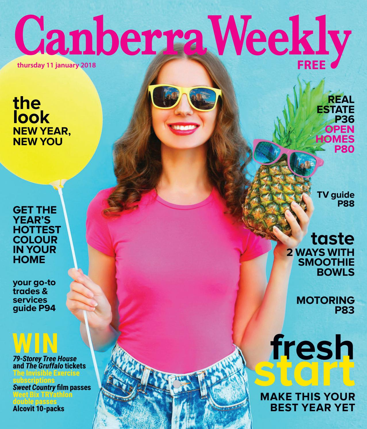 d9195b7df733a 11 January 2018 by Canberra Weekly Magazine - issuu