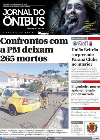 b38b1c96ed Jornal do Ônibus de Curitiba - Edição do dia 18-01-2018 by Editora ...