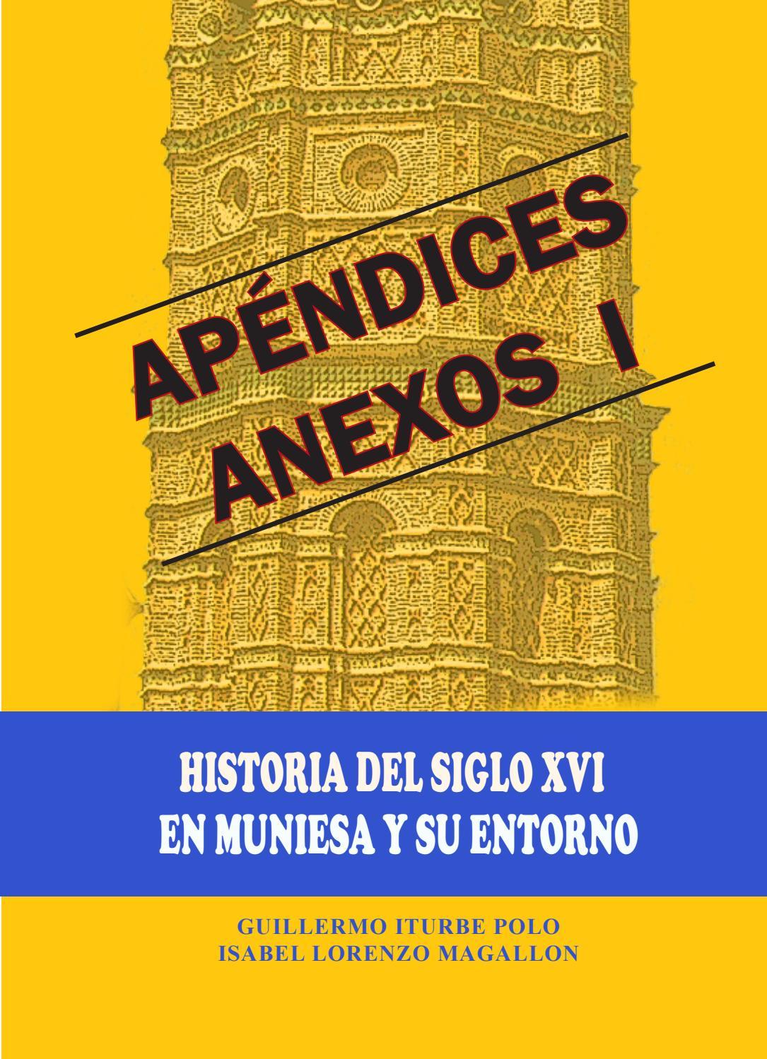 Anexos I Al Libro Historia Del Siglo Xvi En Muniesa Y Su Entorno  # Muebles Mezquita Alcanices