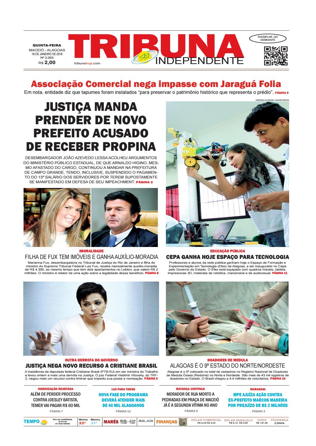 8e1e0fc64e Edição número 3065 - 18 de janeiro de 2018 by Tribuna Hoje - issuu