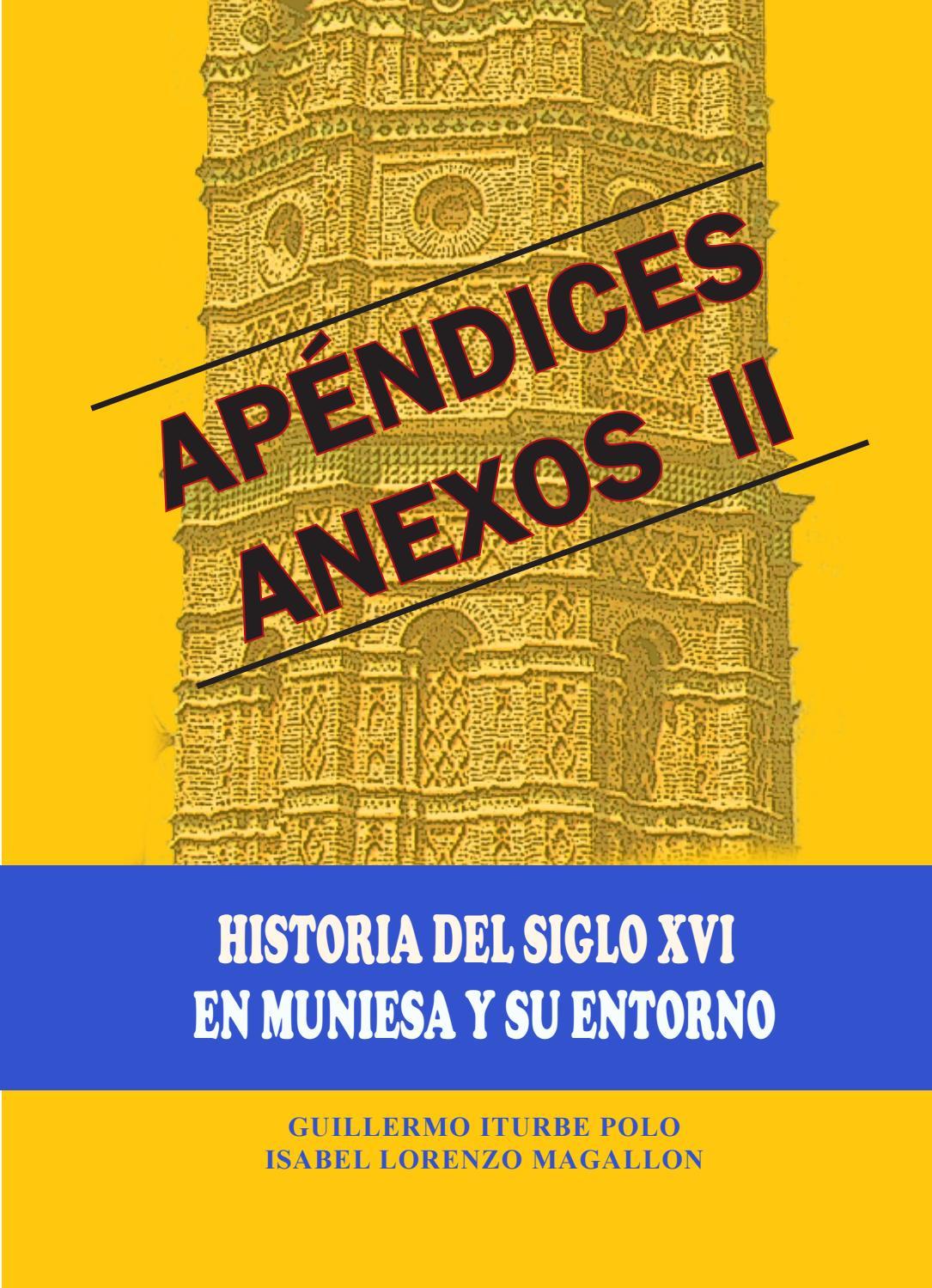 Anexos Ii Al Libro Historia Del Siglo Xvi En Muniesa Y Su Entorno  # Muebles Casal Tauste