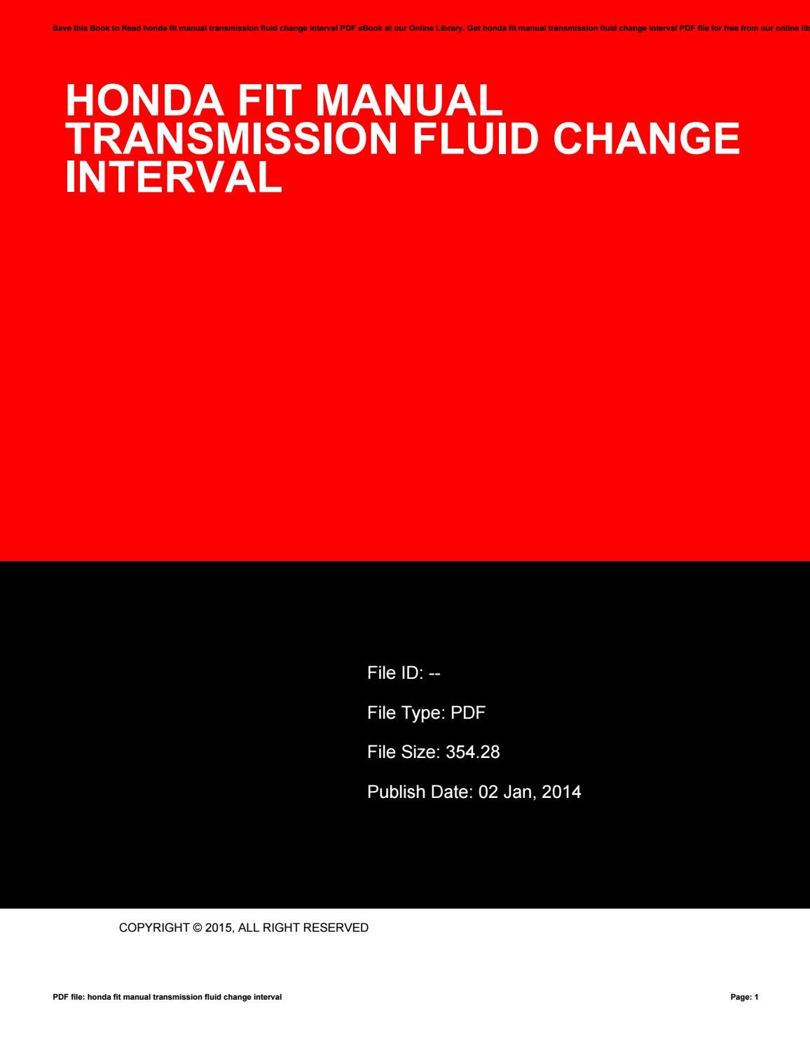 Honda fit manual transmission fluid change interval by harvard-ac-uk158 -  issuu