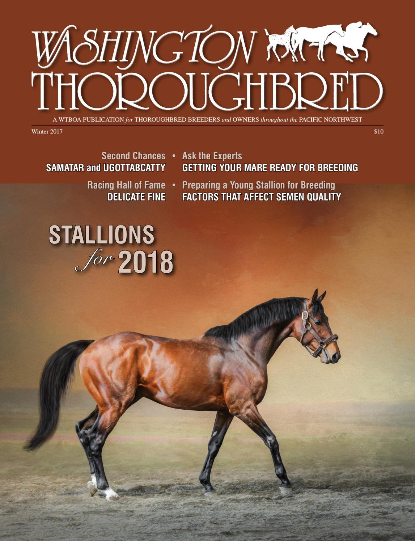 Washington Thoroughbred Winter 2017 Stallion Register by WTBOA - issuu
