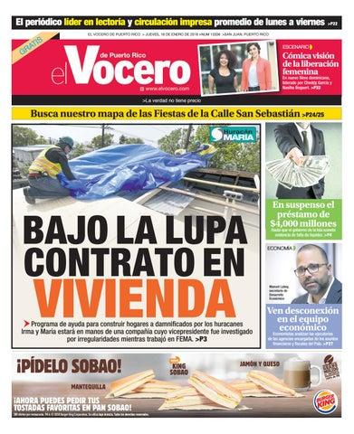 Edición del 18 de enero de 2018 by El Vocero de Puerto Rico - issuu b0ea234a48d51