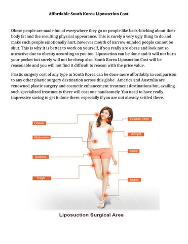 Affordable south korea liposuction cost by william sam - issuu