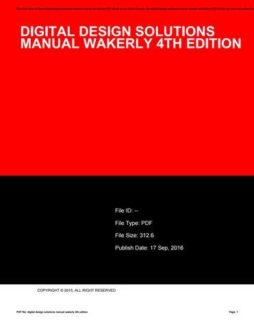 Digital Design 4th Edition Download Lily Rue