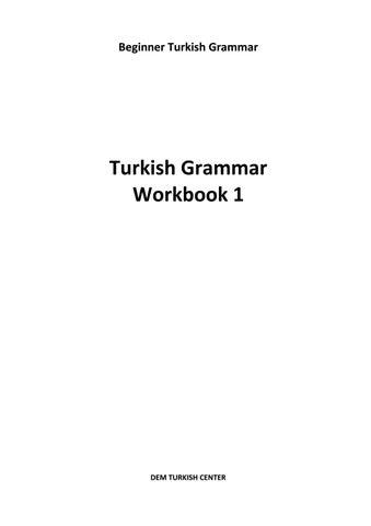 Turkish Grammar Book By Burak çevik Issuu