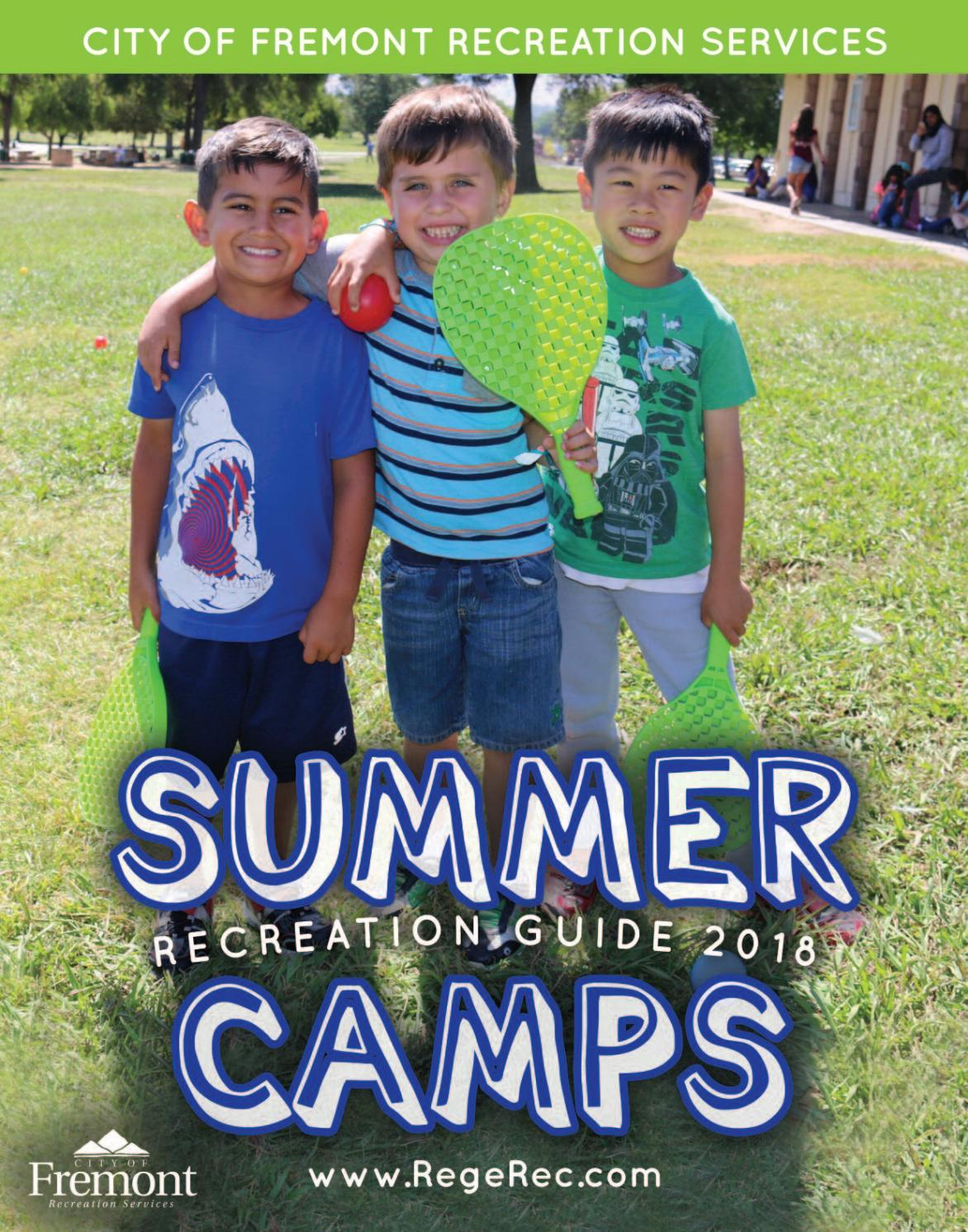 Recreation Guide: Summer Camps 2018 by City of Fremont Recreation Services  - issuu