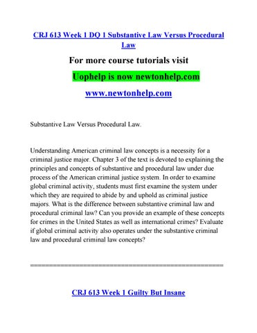 what is the difference between substantive and procedural law