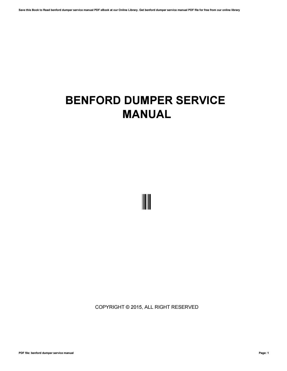 Benford dumper-service-manual.