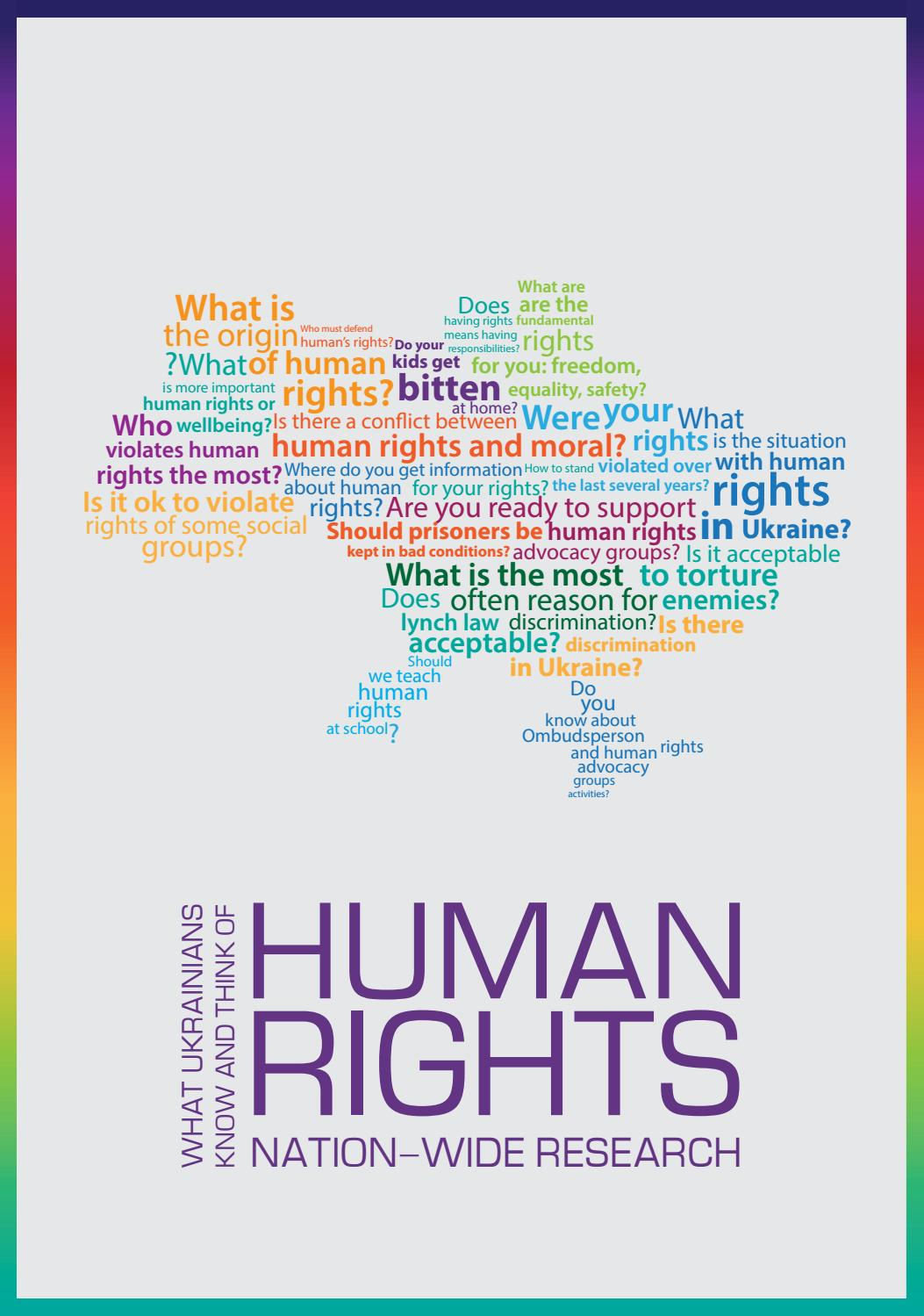 Human rights: nation-wide research by United Nations