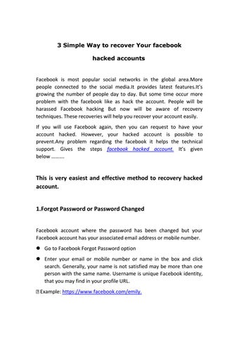 3 simple way to recover your facebook by lerinadesoza - issuu