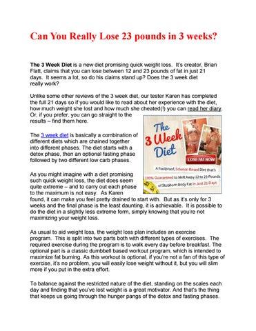 3 week diet plan pdf by Stacie Reyes - issuu