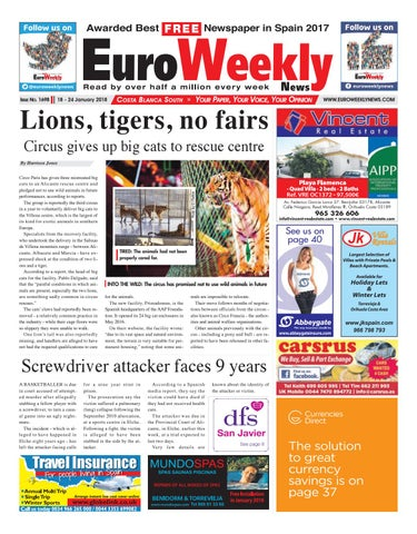 6a9395792547 Euro Weekly News - Costa Blanca South 18 - 24 Jan 2018 Issue 1698 by ...