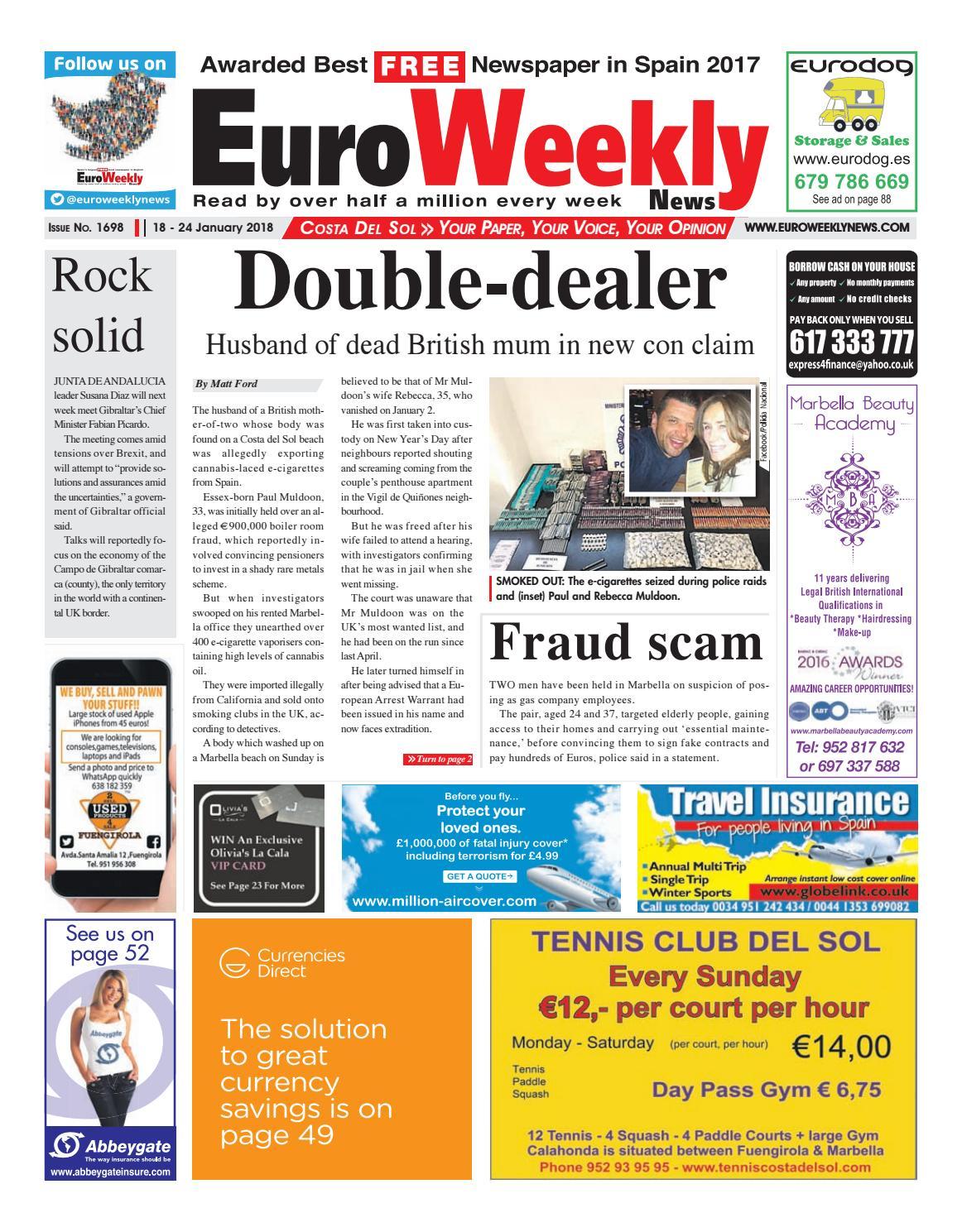 Euro weekly news costa del sol 18 24 jan 2018 issue 1698 by euro euro weekly news costa del sol 18 24 jan 2018 issue 1698 by euro weekly news media sa issuu fandeluxe Gallery