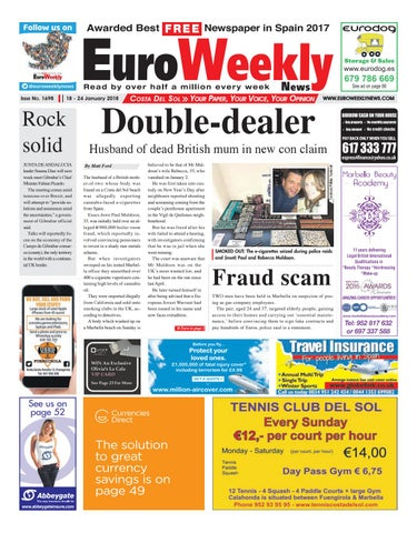 e03bad14d300 Euro Weekly News - Costa del Sol 18 - 24 Jan 2018 Issue 1698 by Euro ...