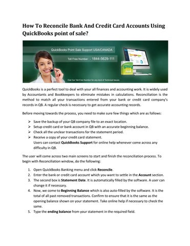 How to reconcile bank and credit card accounts using quickbooks by