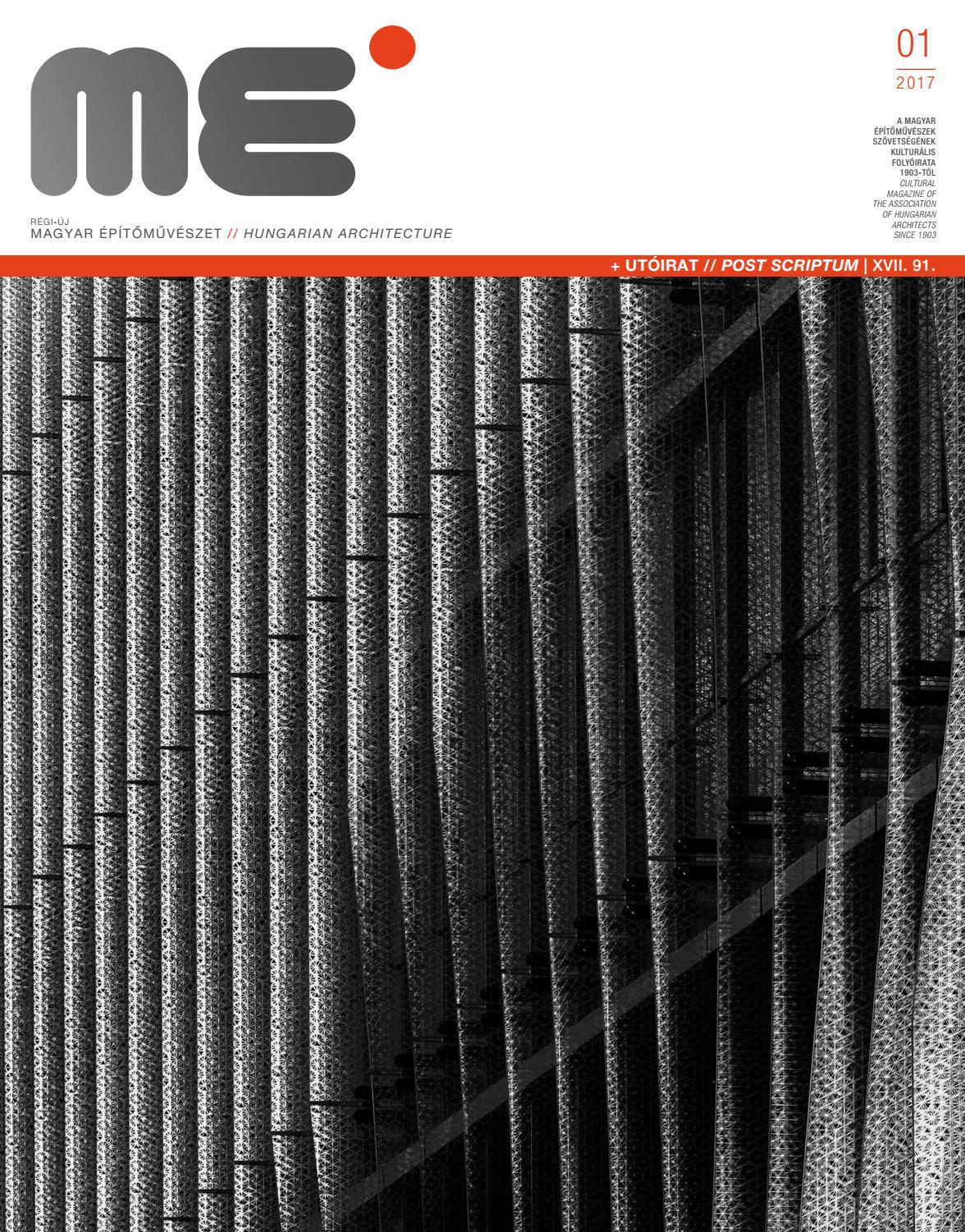 4a2be65bd0 Hungarian Architecture 2017/1 by Hungarian Architecture - issuu