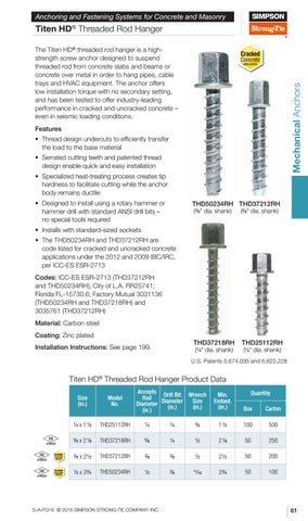 Simpson Strong Tie Catalog by Ram Tool Construction Supply