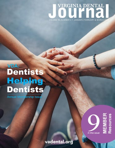 Virginia Dental Journal Vol 95 #1 January, February and