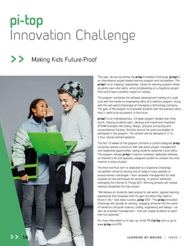 Page 16 of pi-top Innovation Challenge