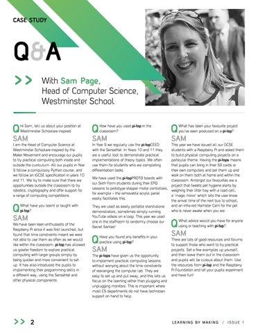 Page 4 of UK Teacher Case Study - Westminster School
