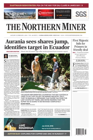 165 Niocorp Appoints Mr Mark A Smith  >> The Northern Miner Jan 22 2018 Issue By The Northern Miner