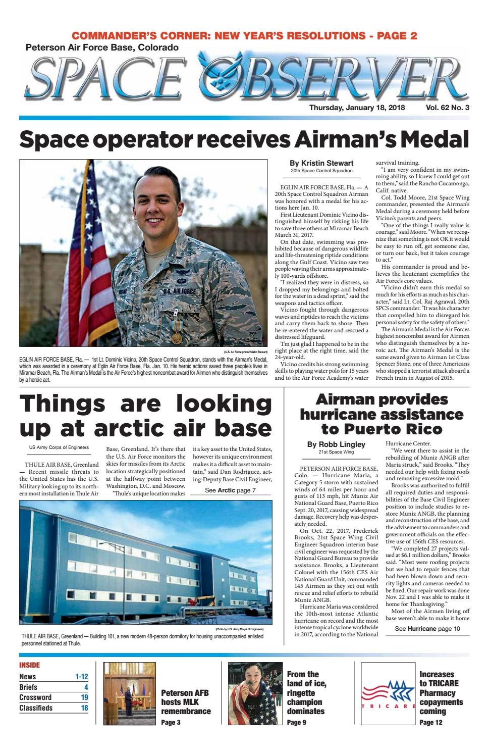 Peterson space observer january 18