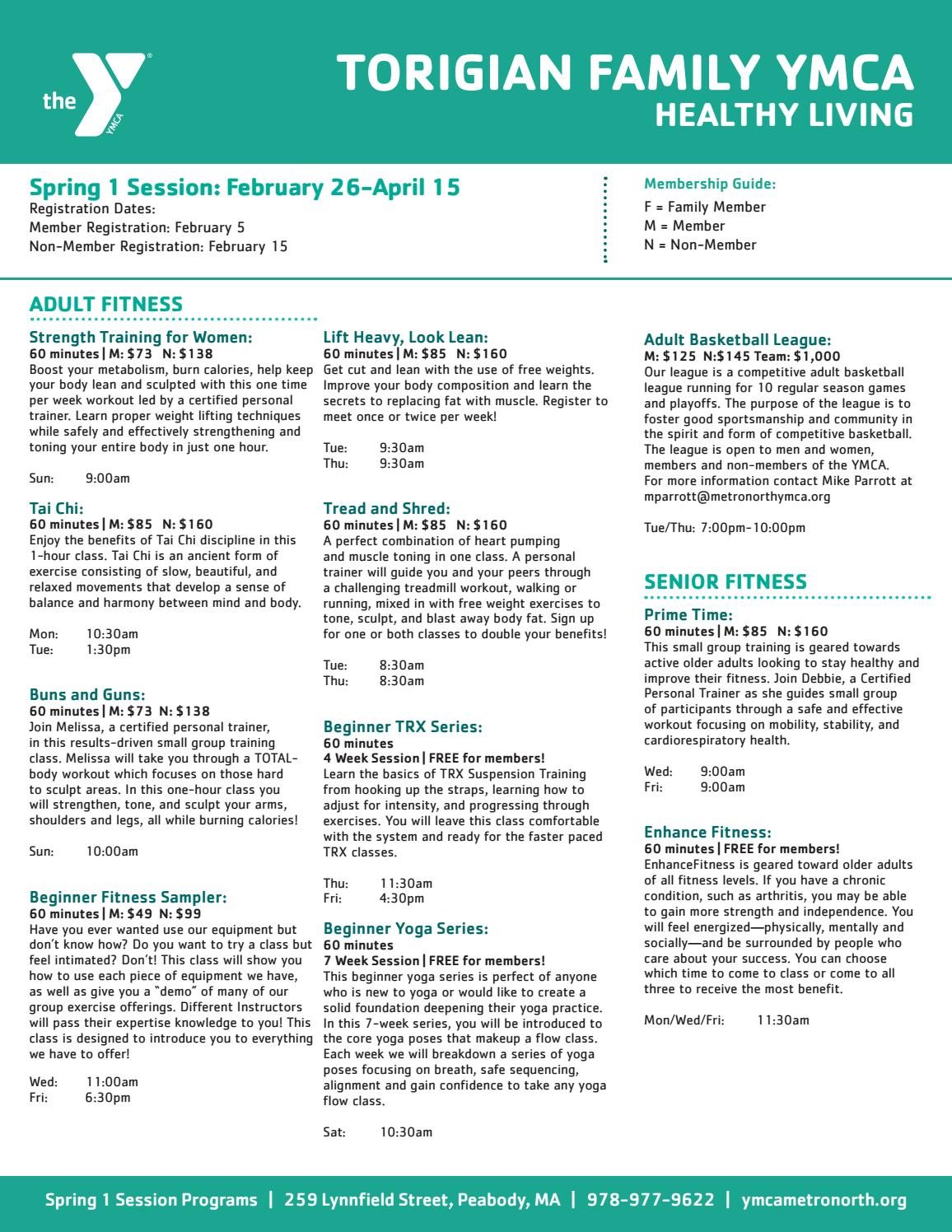 Torigian Spring 1 Programs By Ymca Of Metro North Issuu