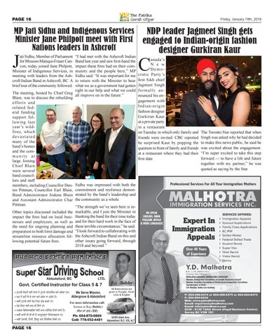 January 19th 2018 By Punjabi Patrika Media Ltd Issuu