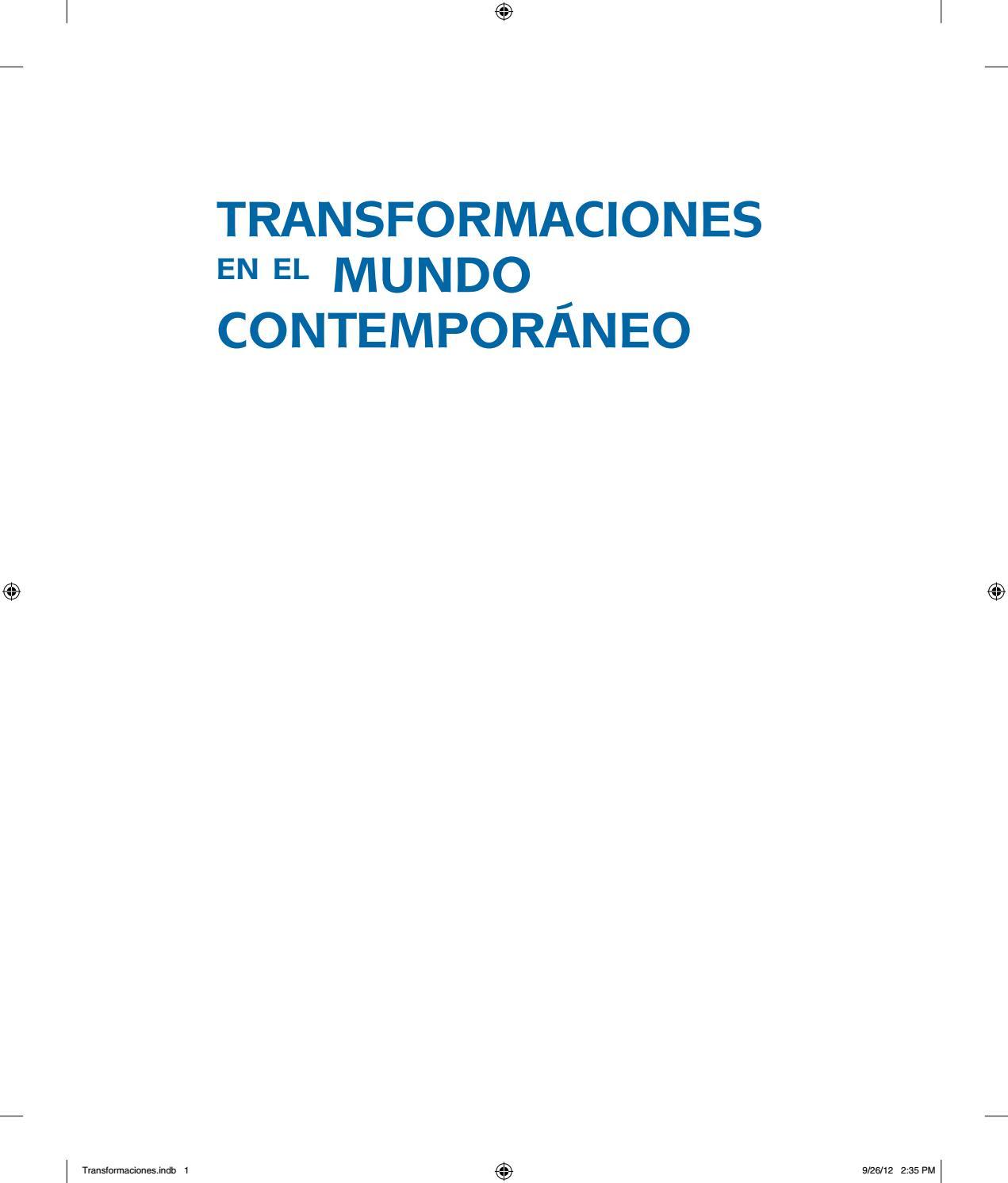 Libro transformaciones en el mundo contemporaneo by Erica Cortes - issuu