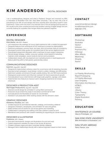 kim anderson digital designer resume 2018 by kim anderson issuu