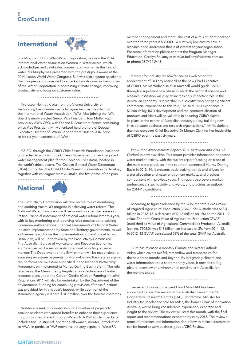 Water Journal November 2014 by australianwater - issuu