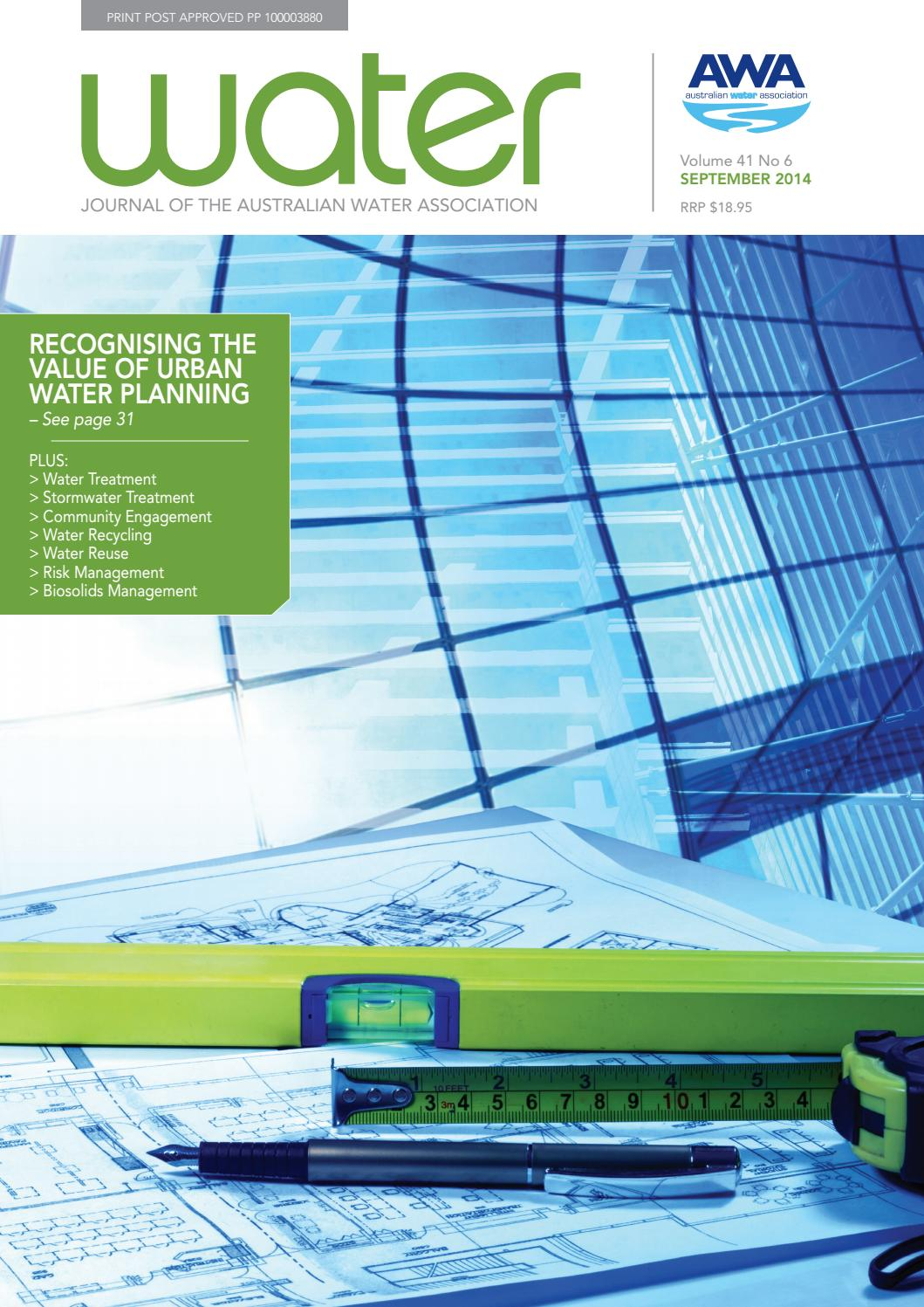 Water Journal September 2014 By Australianwater Issuu Kato N Scale Printed Circuit Board Pcb Lighting Kit For Up