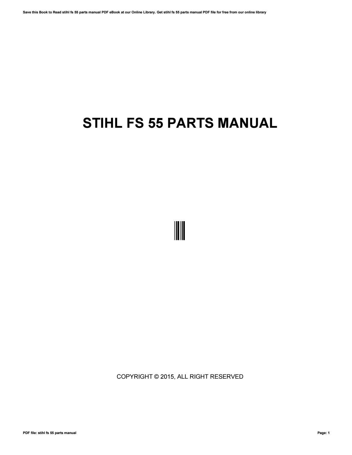 stihl fs55rc service manual ebook