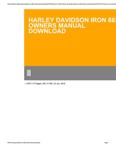 Harley davidson iron 883 owners manual download by e4573 issuu save this book to read harley davidson iron 883 owners manual download pdf ebook at our online library get harley davidson iron 883 owners manual download fandeluxe Images