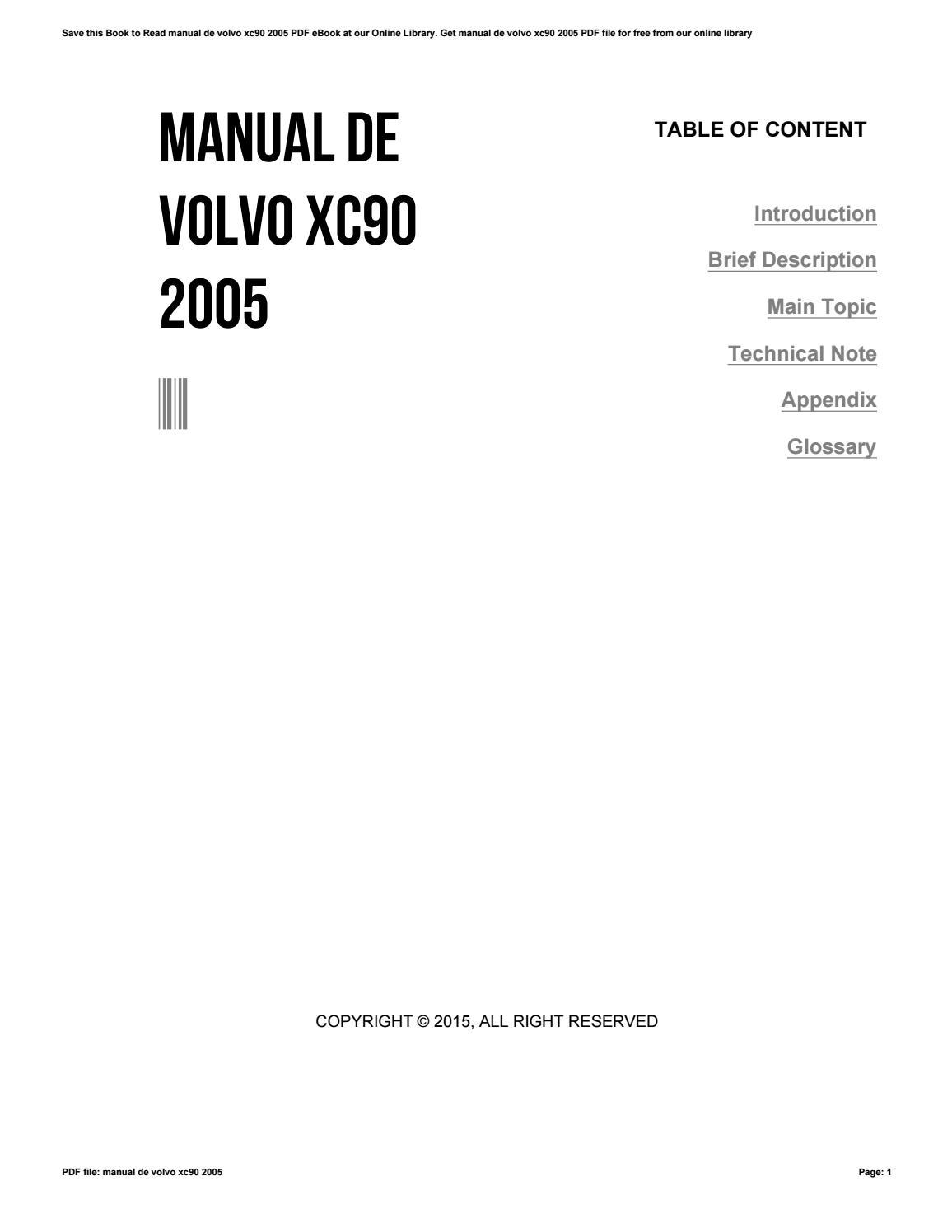 manual de volvo xc90 2005 by zhcne20 issuu rh issuu com xc90 2005 manual volvo xc90 2005 owners manual pdf
