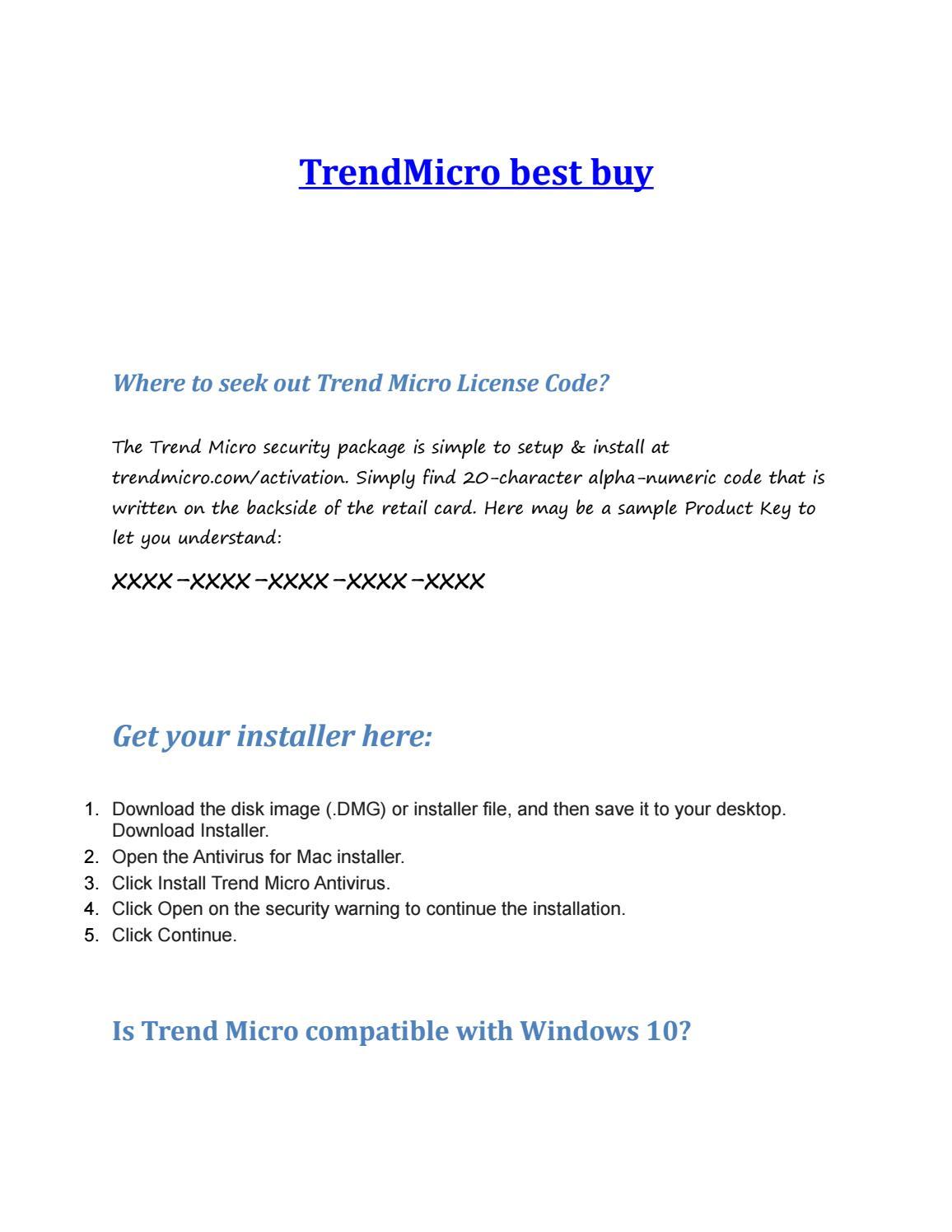 trend micro antivirus for mac download
