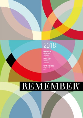 Remember Katalog 2018 By H Design
