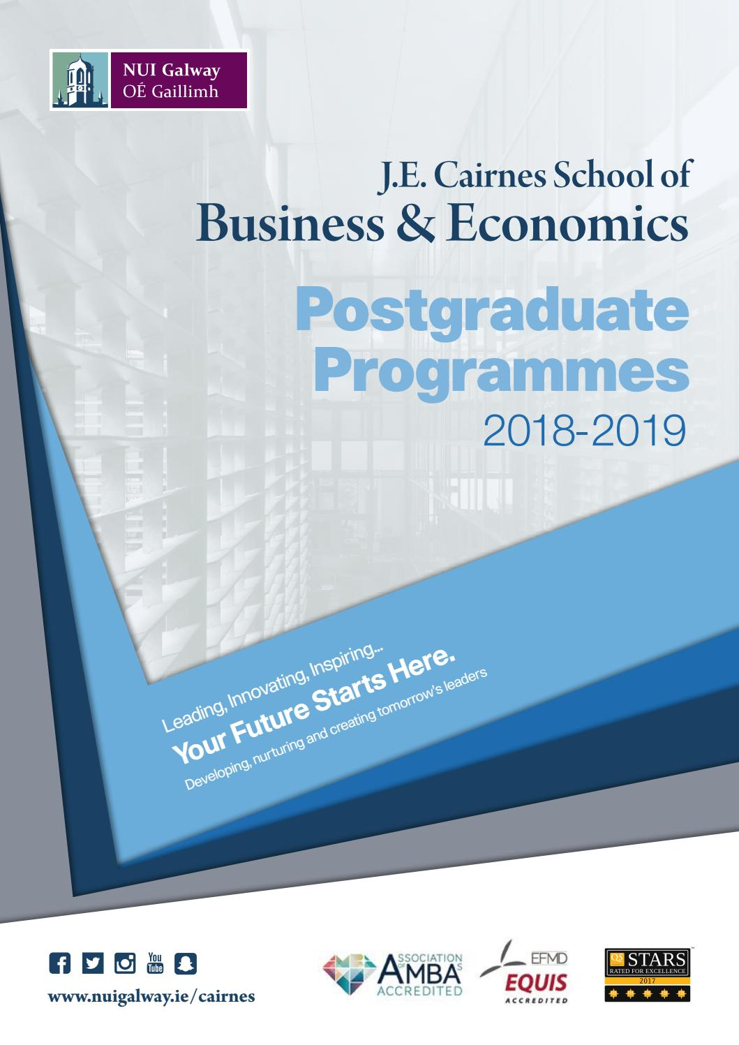 Nui Galway Postgraduate Business Prospectus By Nuigalwaybusiness Issuu